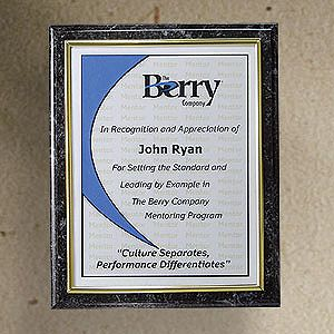 CD119 Slide-in Certificate Plaque-Black Marble Finish